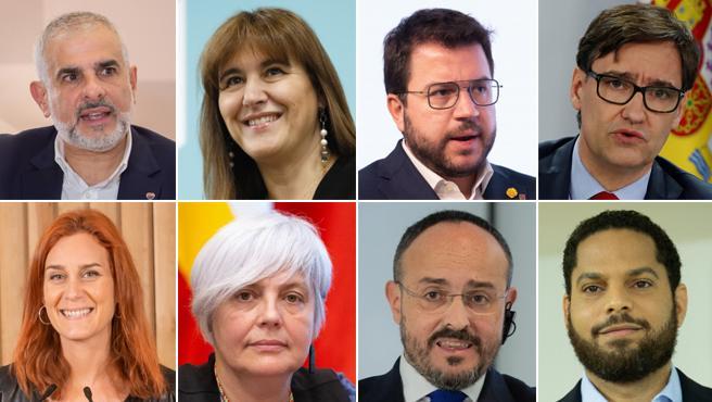 Principales candidatos a la presidencia de la Generalitat en las elecciones del 14-F.