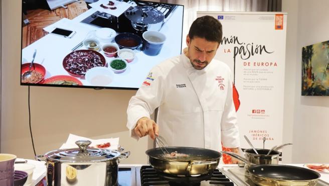 Estévez ha ideado tres recetas para hacer con jamón ibérico.