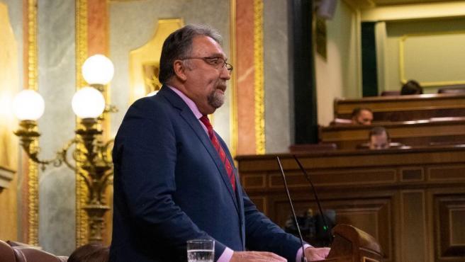 El diputado de Foro Asturias, Isido Martínez Oblanca, interviene en el Pleno del Congreso
