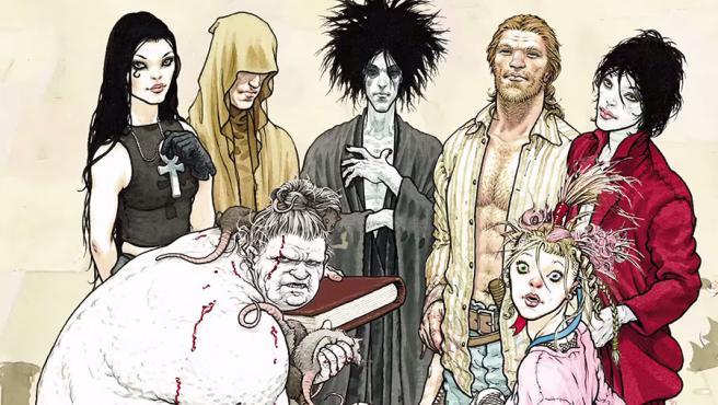 La familia de los Eternos en el cómic 'Sandman'.