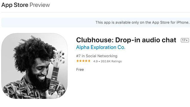 Clubhouse sólo está disponible para iOS.