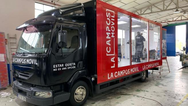 El vehículo donde María Teresa Campos hará sus entrevistas en 'La campos móvil'.