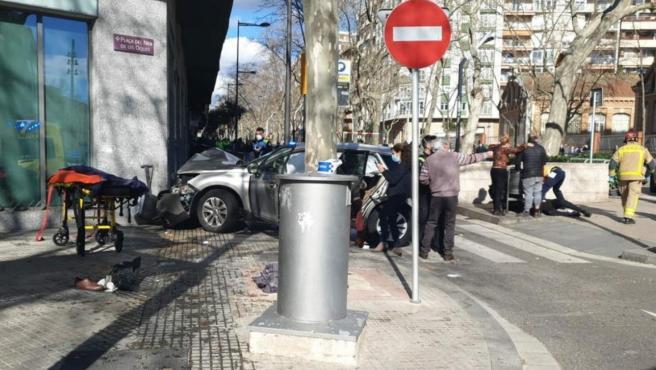 Imagen tras el atropello múltiple en Reus.