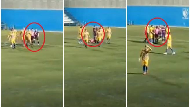 Imágenes de la agresión sufrida por el árbitro.