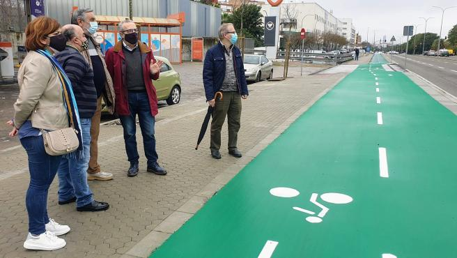 Ayuntamiento concluye un intenario peatonal que conecta Amate con el Parque Empresarial Carretera Amarilla