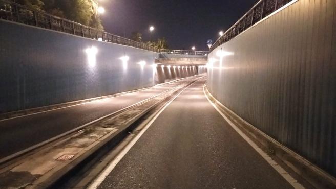 Ayuntamiento renueva la iluminación del túnel de Ibn Zaydun
