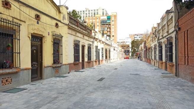 El pasaje d'Antoni Gassol, convertido en una calle peatonal.