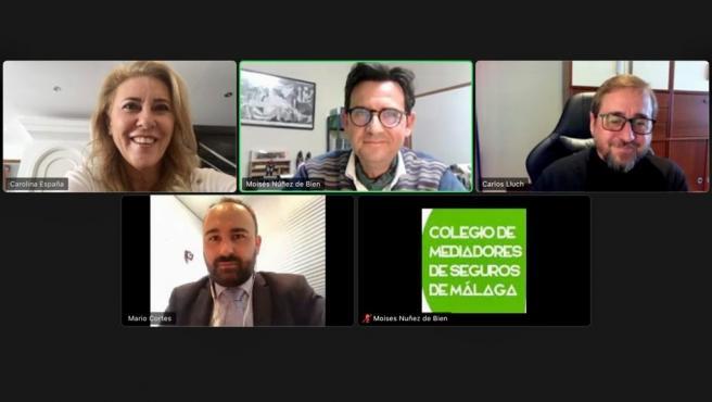 Encuentro telemático de diputados del PP por Málaga con Mediadores de Seguros