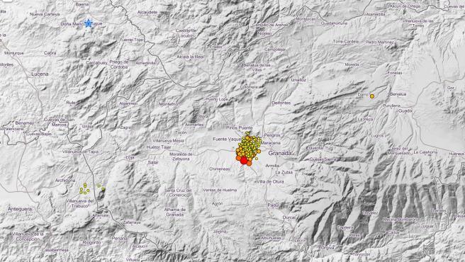 Enjambre sísmico en Granada.