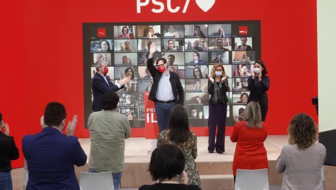 El candidato del PSC a las elecciones catalanas del 14 de febrero, Salvador Illa