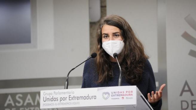 La coordinadora de Podemos, Irene de Miguel, en una imagen de archivo.