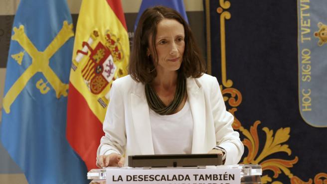 La portavoz del Gobierno y consejera de Derechos Sociales y Bienestar, Melania Álvarez, en una imagen de archivo