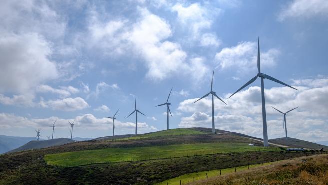 Parque eólico de El Segredal de Iberdrola en Asturias