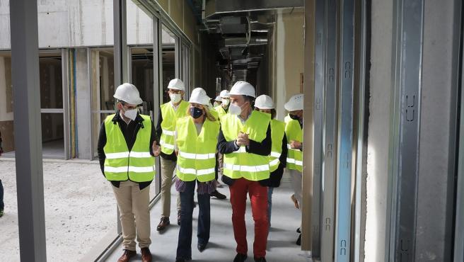 Visita a las obras de ampliación del centro de salud de San Pedro Alcántara, en Marbella (Málaga)