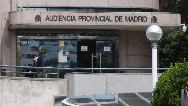 Entrada a la Audiencia Provincial de Madrid.