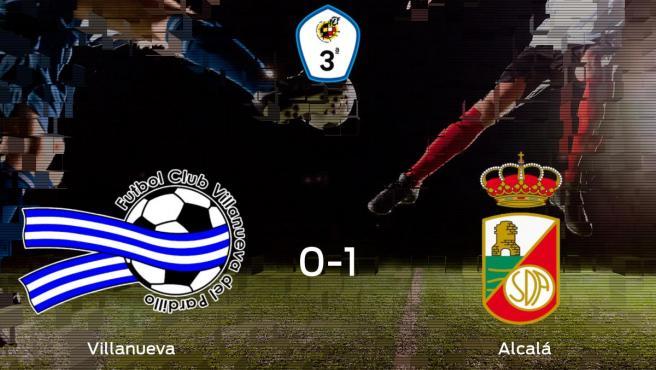 El RSD Alcalá consigue la victoria frente al Villanueva del Pardillo en el segundo tiempo (0-1)