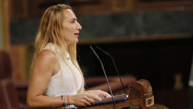 La diputada de Vox Patricia de las Heras interviene en una sesión plenaria en el Congreso de los Diputados.