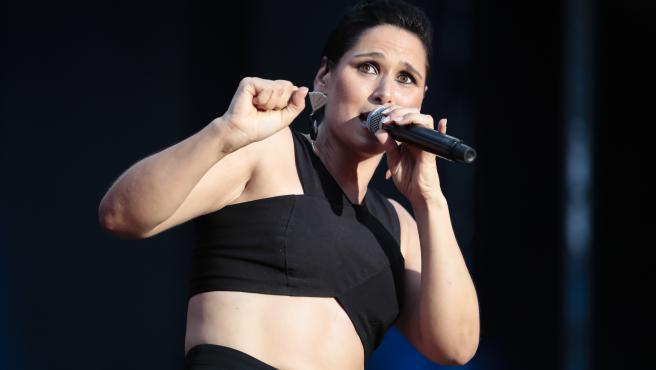 Rosa López, en una actuación en 2018 en Madrid.