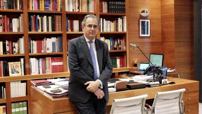 El consejero de Educación de la Comunidad de Madrid, Enrique Ossorio, minutos antes de la entrevista con 20minutos.
