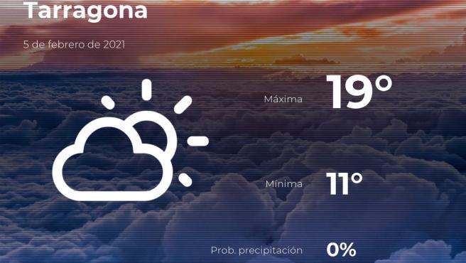 El tiempo en Tarragona: previsión para hoy viernes 5 de febrero de 2021
