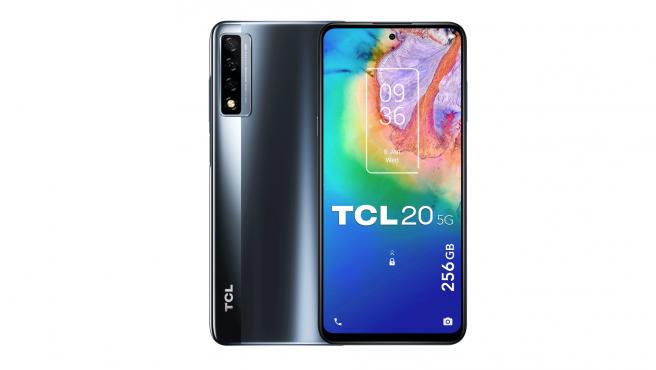 El TCL 20 5G ofrece una pantalla Full HD+ de 6,67 pulgadas.