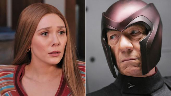 Elizabeth Olsen y Ian McKellen
