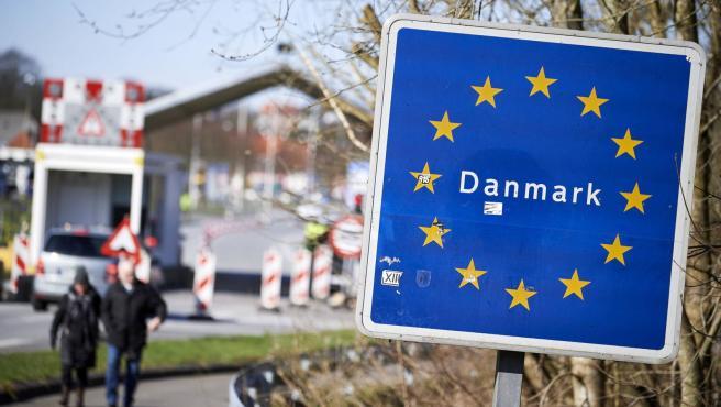 Imagen de un control en la frontera de Dinamarca.