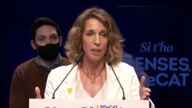 La candidata del PDeCAT a la Presidencia de la Generalitat, Àngels Chacón