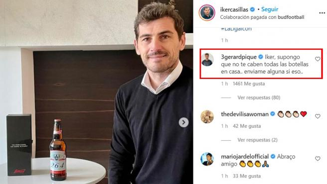 Mensaje de Casillas y Piqué