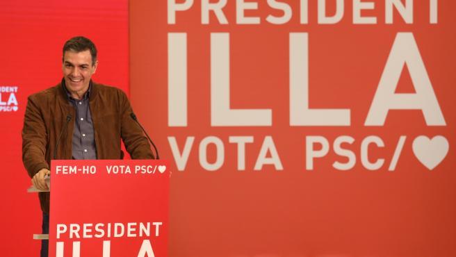 El presidente del Gobierno, Pedro Sánchez, en Salou.