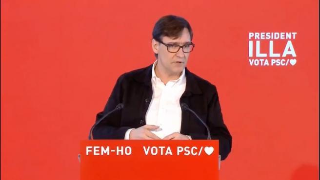 El candidato del PSC a las elecciones catalanas, Salvador Illa.