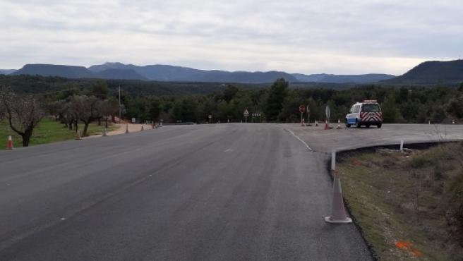 El Gobierno de Aragón impulsa la mejora de la A-231 en el acceso sur a la Fresneda (Teruel).