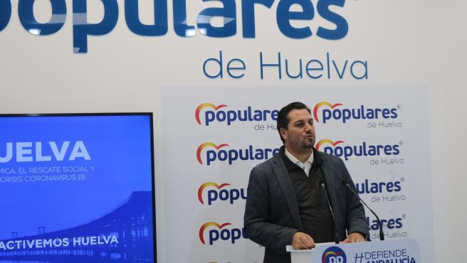 El portavoz del grupo popular en el Ayuntamiento de Huelva, Jaime Pérez.