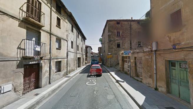 El número 39 de la calle La Picota, en Miranda de Ebro, donde se produjo el atropello.