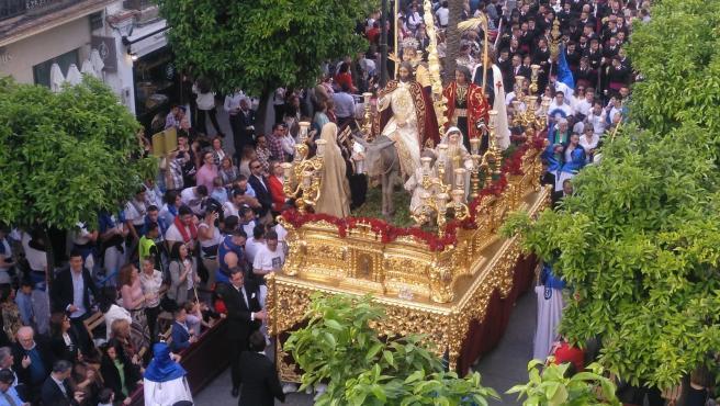 Paso de Semana Santa en Jerez