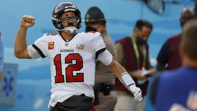 Tom Brady, durante la Super Bowl LV entre Tampa Bay Bucaneers y Kasas City Chiefs