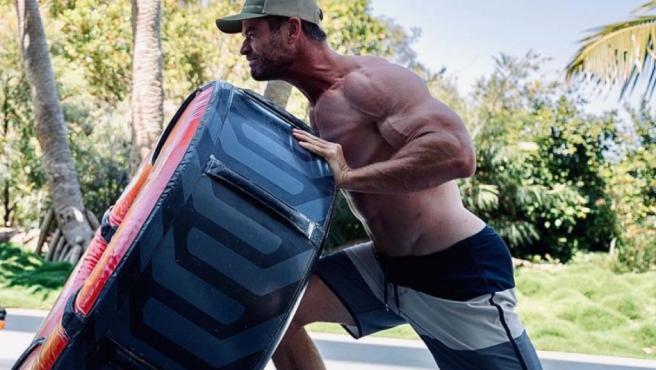 Chris Hemsworth y sus duro entrenamiento