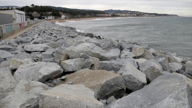 Rompeolas del puerto de Arenys de Mar.
