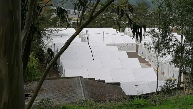 Campamento de migrantes en Las Raíces (Tenerife)