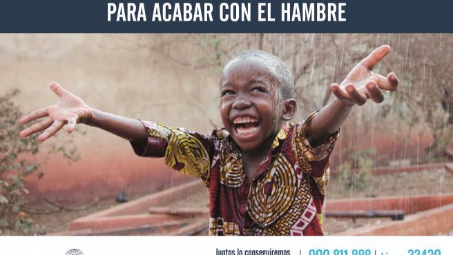 Cartel de la 62 campaña de Manos Unidas en la lucha contra el hambre
