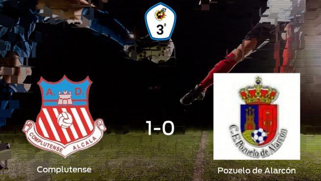 El Complutense Alcalá se lleva tres puntos después de derrotar 1-0 al Pozuelo de Alarcón