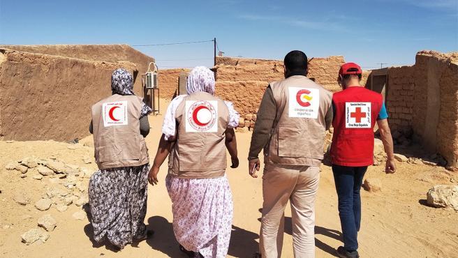 Integrantes del proyecto de intervención educativa de Cruz Roja en el Sáhara.