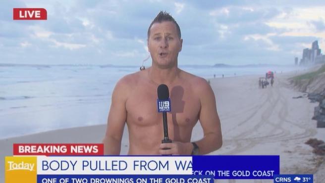 Luke Bradnam, meteorólogo del canal Nine News Queensland.
