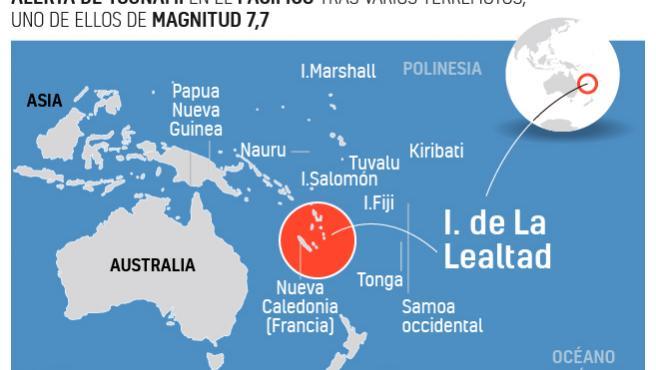 Así ha sido el terremoto de magnitud 7,7 en el Pacífico.