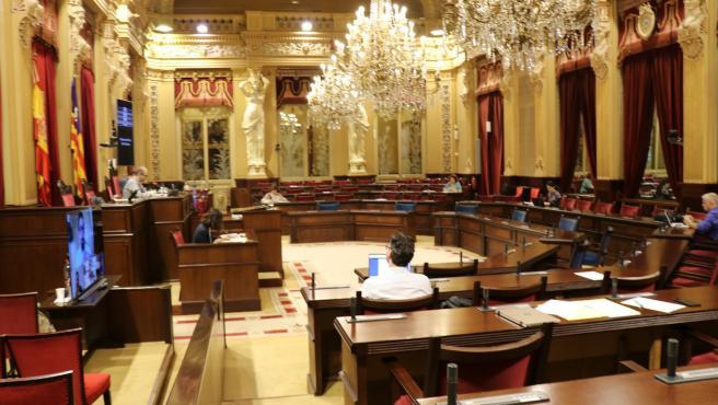 Sala de las Cariátides del Parlament.
