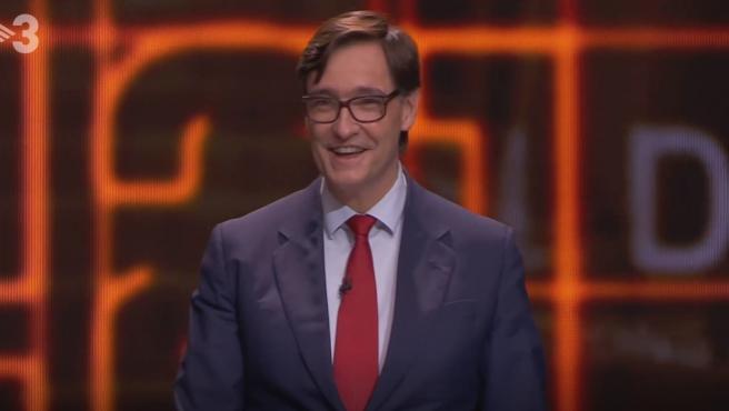 Salvador Illa, en el debate en TV3.