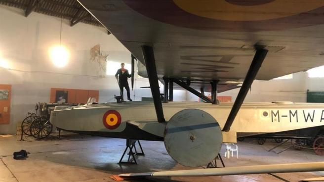 El avión 'Plus Ultra', en el Museo del Transporte de Luján, en Buenos Aires, Argentina.