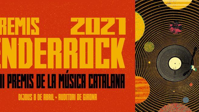 Cartel de los Premis Enderrock 2021