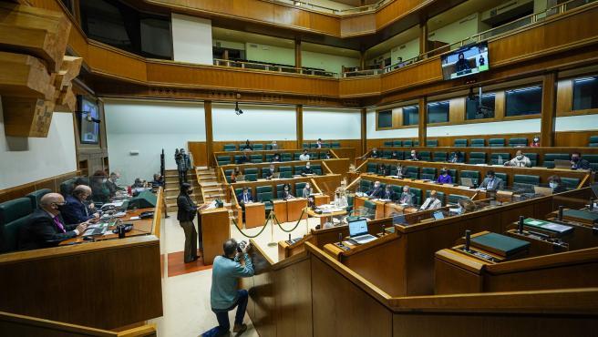 El Parlamento Vasco durante la sesión en la que se han aprobado los Presupuestos Generales para 2021
