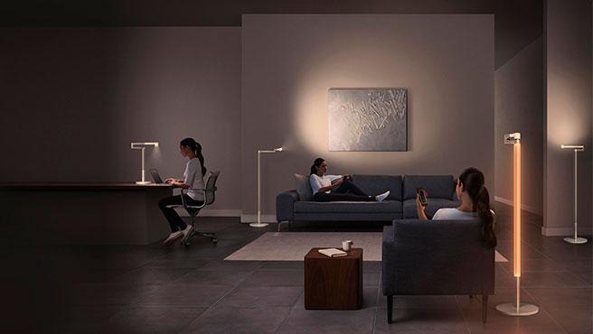 Para estudiar, trabajar, en modo ambiente, la lámpara inteligente de Dyson se adapta a cualquier circunstancia.